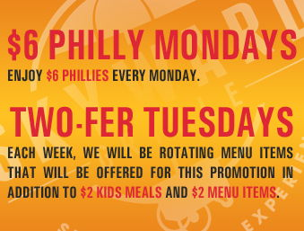 Enjoy $5 Phillies every Monday!
